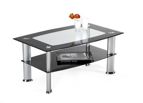 Couchtisch glastisch glitzer schwarzglas i211 for Couchtisch schwarzglas